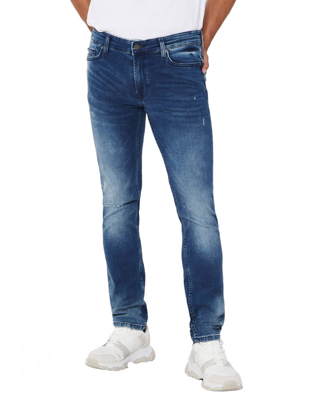 ONLY&SONS Loom Zip Sweat Slim Jeans Denim