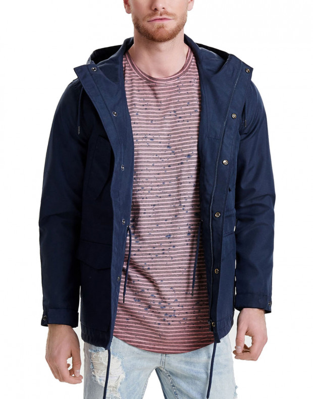 ONLY&SONS Solid Parka Coat Blue