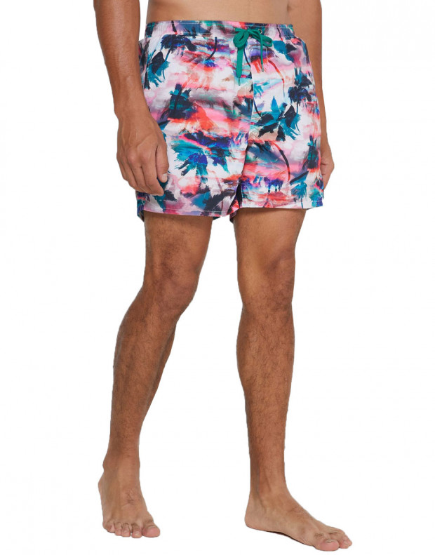 ONLY&SONS Ted Swim AOP Shorts Coral