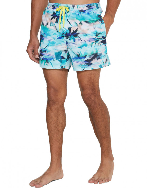 ONLY&SONS Ted Swim AOP Shorts Dress Blues