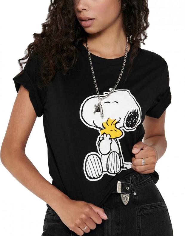 ONLY Snoopy Printed Tee Black