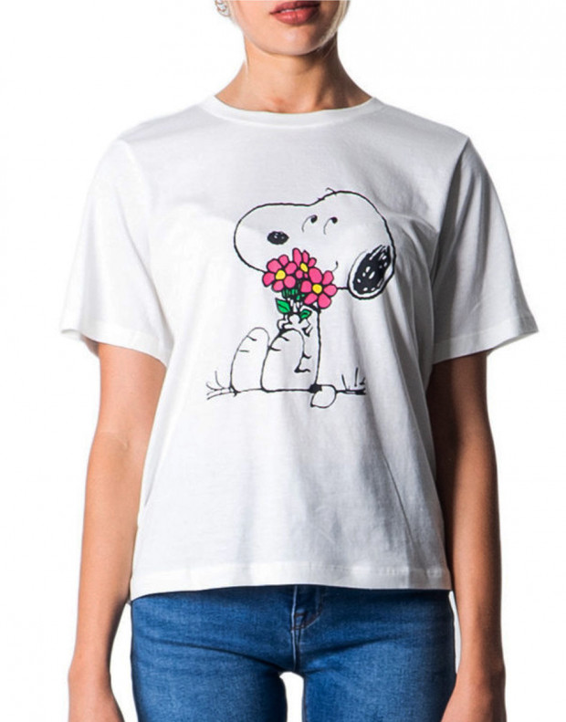 ONLY Snoopy Printed Tee White Flowers