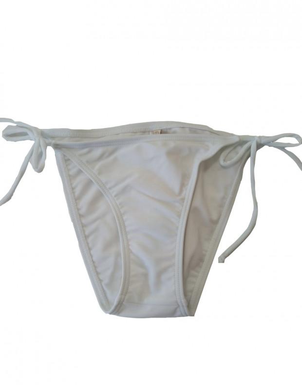 PIECES Tanga Swim Bottom White