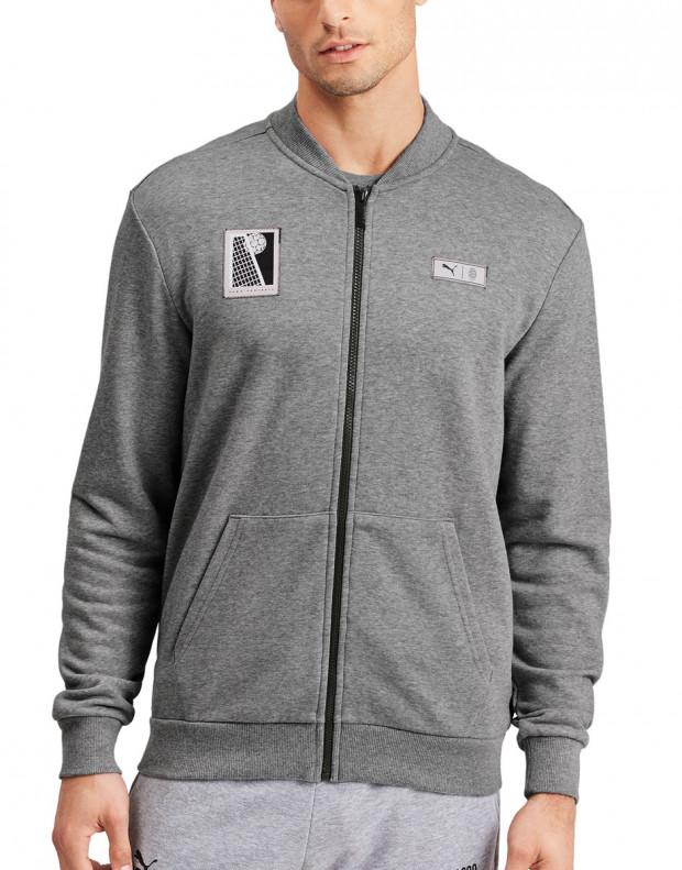 PUMA AC Milan Premium Bomber Jacket Grey