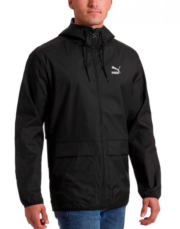 PUMA Classics Archive Logo Windbreaker Jacket Black