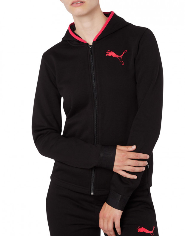 PUMA Hooded Zip Jacket Black