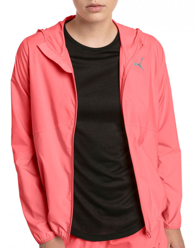 PUMA Ignite Hooded Wind Jacket Pink