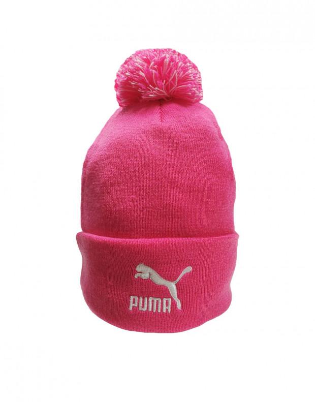 PUMA LS Core Knit Pom Pom Beanie Pink