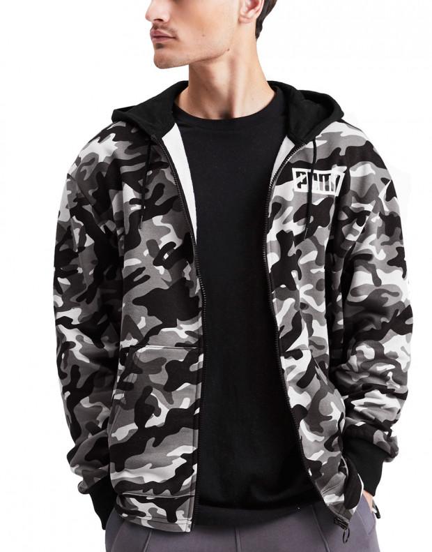 PUMA Rebel Camo Full Zip Fleece Hoodie Multicolour