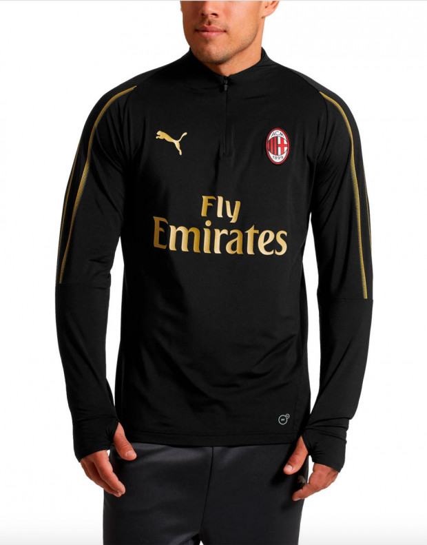 PUMA AC Milan 1/4 Zip Top Zipped Pockets
