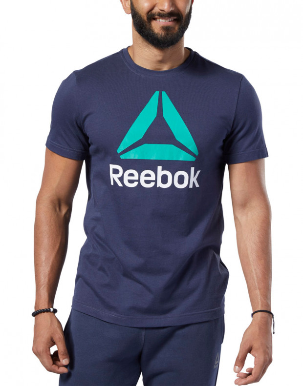 REEBOK Qqr Stacked Tee Blue