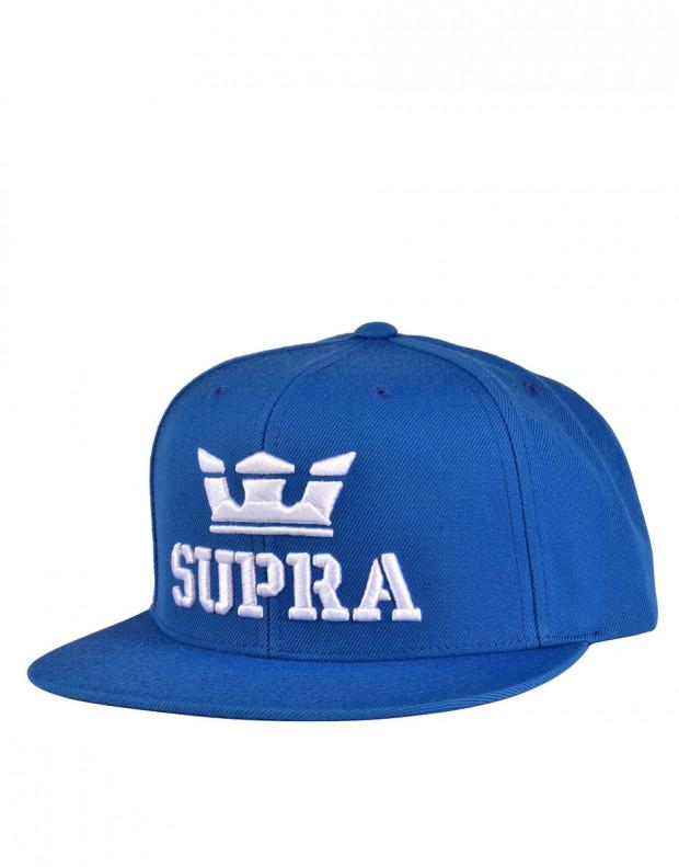 SUPRA Above Snapback Hat Ocean/White