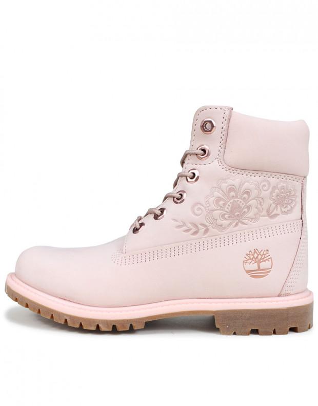 TIMBERLAND 6-Inch Premium Waterproof Embossed Boots Pink
