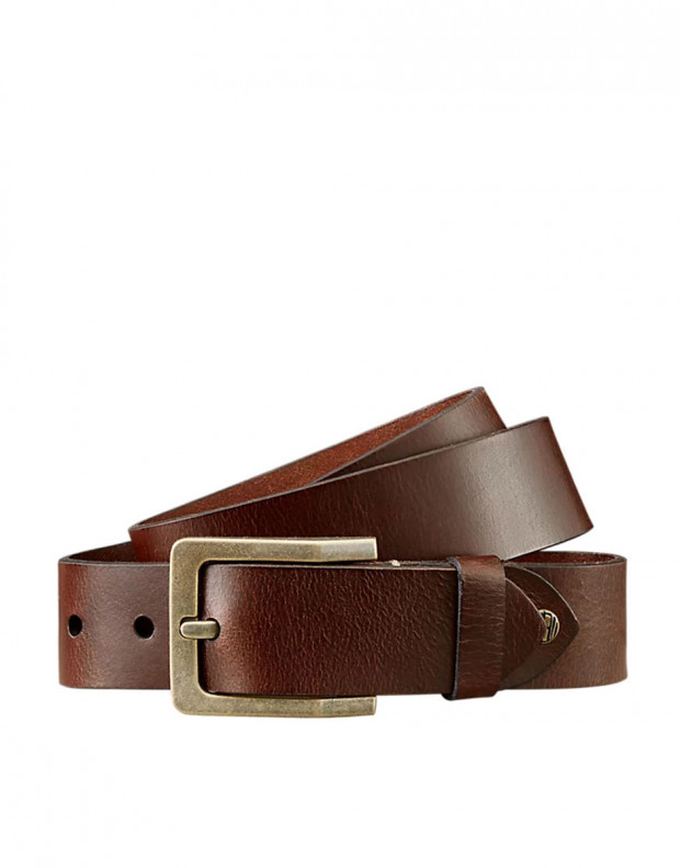 TIMBERLAND Buffalo Leather Belt Brown