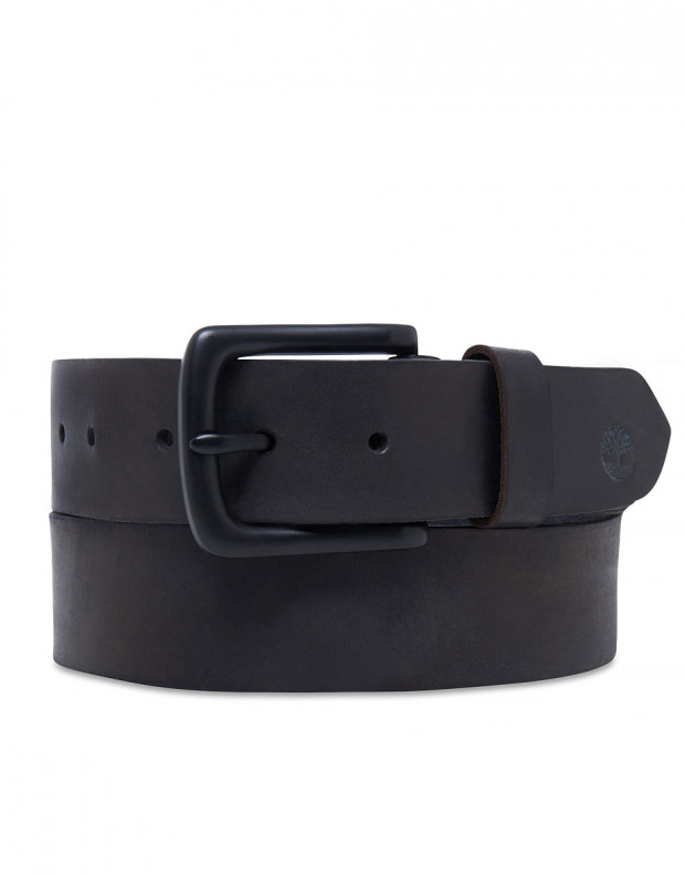 TIMBERLAND Coloured Bartack Belt Black