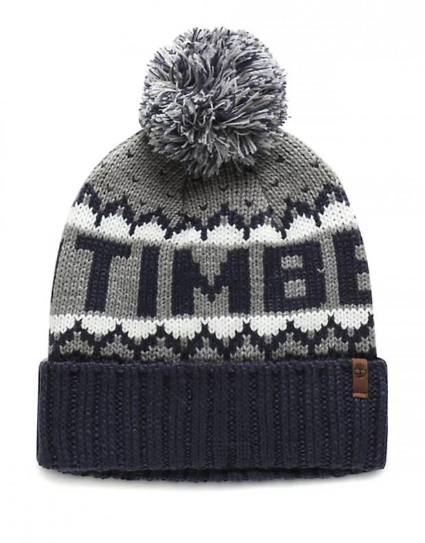 TIMBERLAND Logo Cuffed Pom Hat