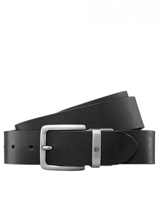 TIMBERLAND New Reversible Leather Belt Black