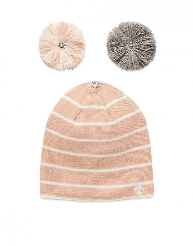 TIMBERLAND Reverse Pom Hat Pink