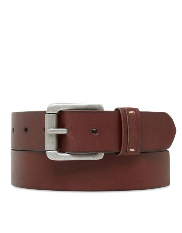 TIMBERLAND Leather Keeper Belt Brown