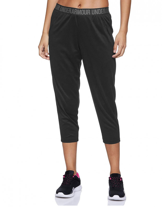 UNDER ARMOUR Featherweight Cropped Fleece Joggers Black