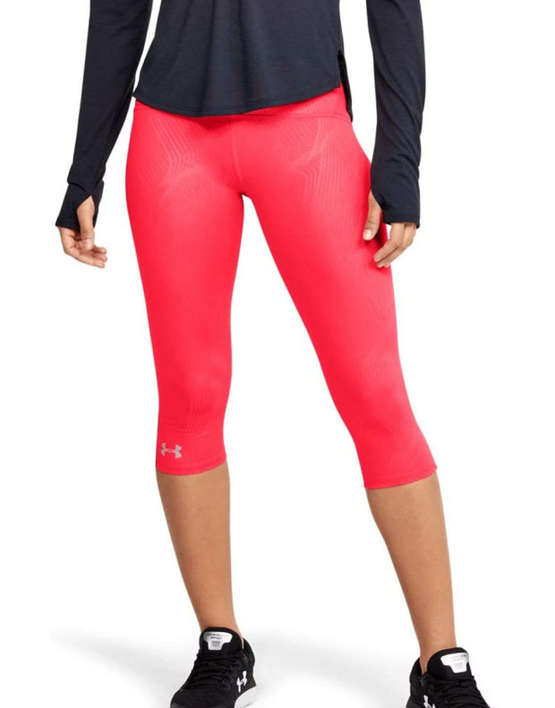 UNDER ARMOUR Fly Fast Printed Capri Leggings Red