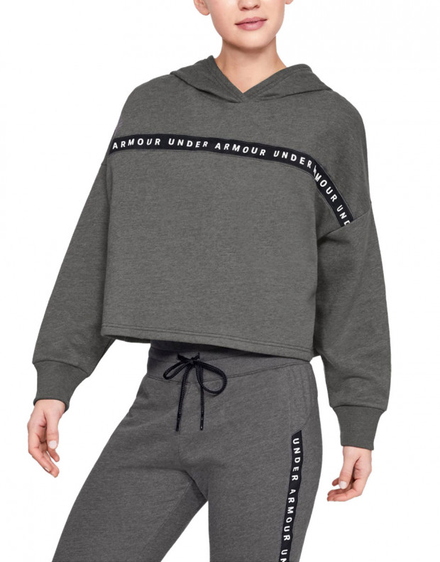 UNDER ARMOUR Taped Fleece Hoodie Grey