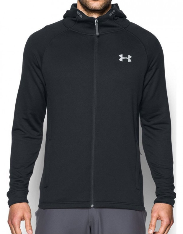 UNDER ARMOUR Tech Terry Fitted Hoodie Black