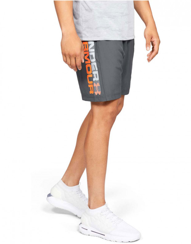 UNDER ARMOUR Woven Graphic Wordmark Shorts Grey