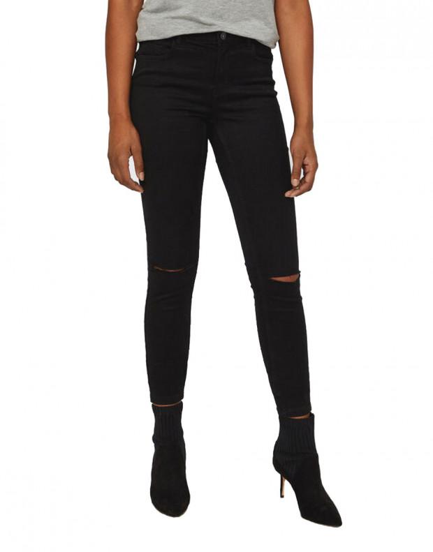 VERO MODA Ripped Skinny Jeans Black