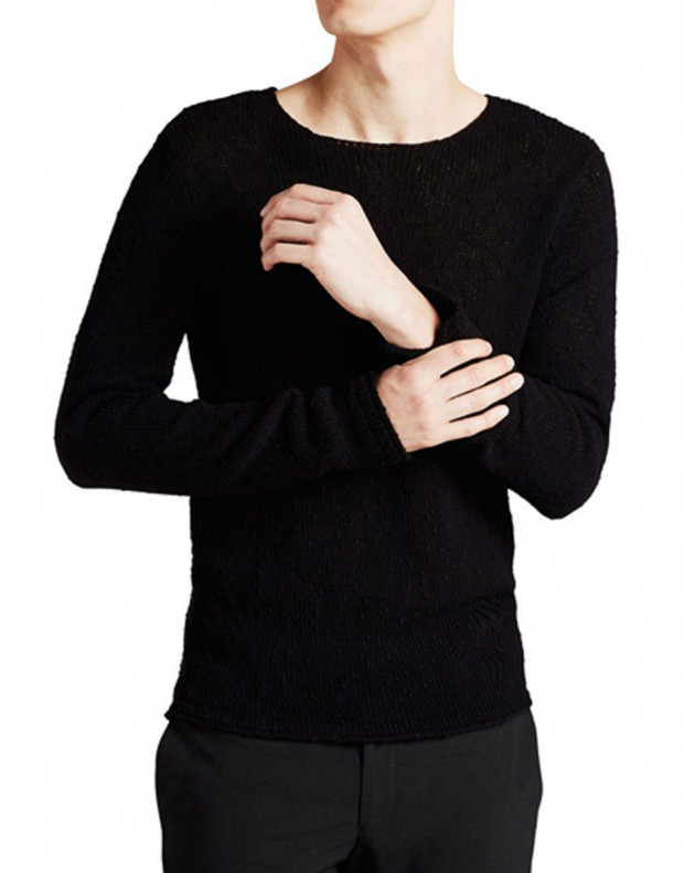 JACK&JONES Classic Knitted Pullover Black