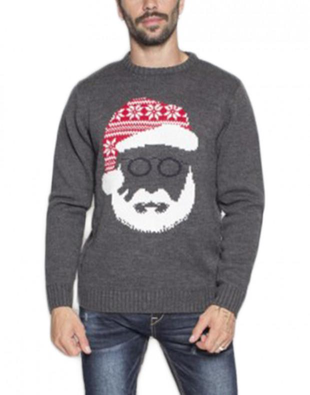 MZGZ Santa Pullover Grey
