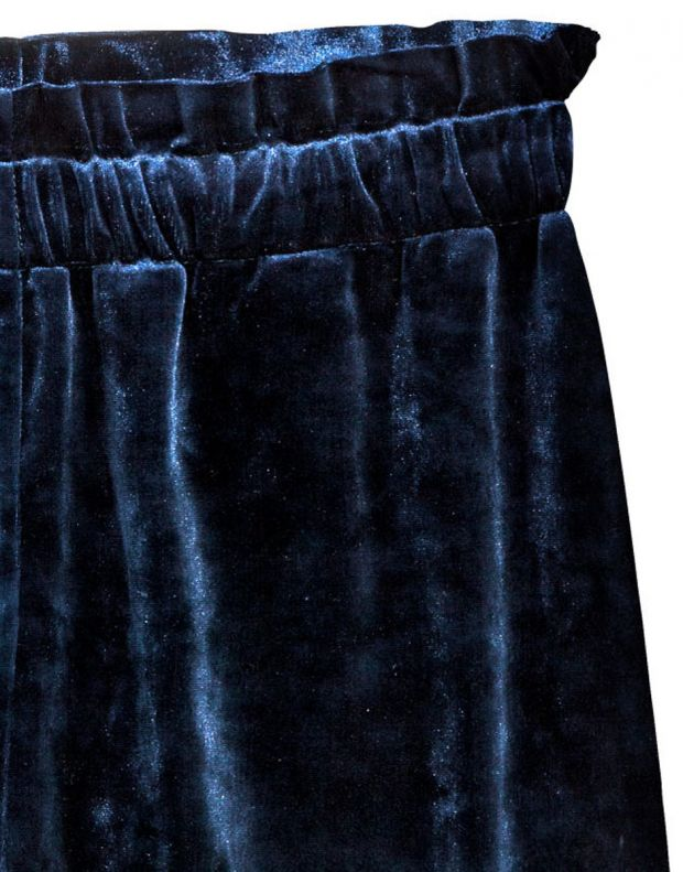 H&M Velour Shorts - 8535/blue - 3