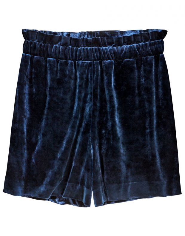 H&M Velour Shorts - 8535/blue - 2