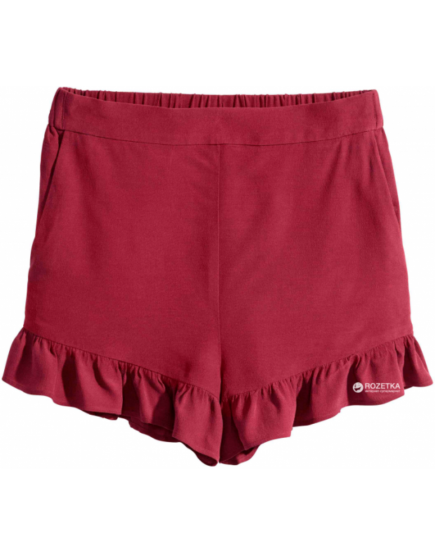 H&M Frill-Trimmed Shorts - 2493/red - 3