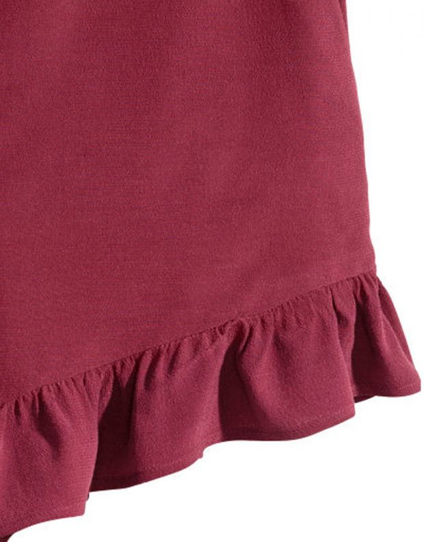 H&M Frill-Trimmed Shorts - 2493/red - 2