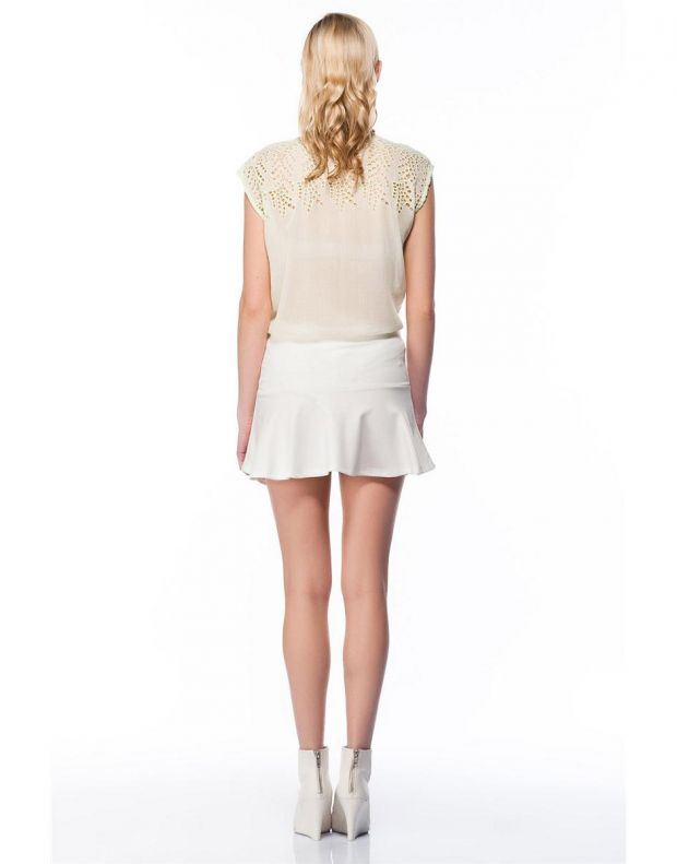 BERSHKA Full Skirt White - 2