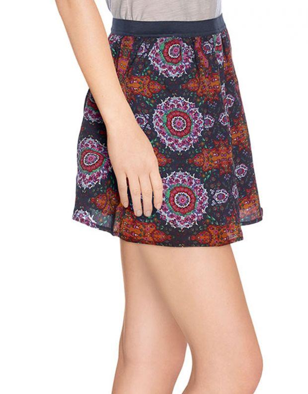 VERO MODA Dark Ethno Print Skirt - 56294/adobe - 3