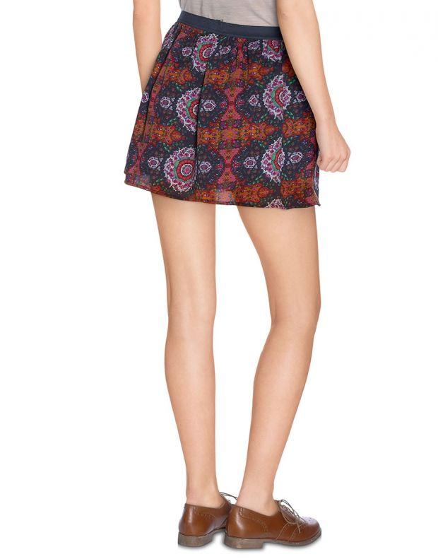 VERO MODA Dark Ethno Print Skirt - 56294/adobe - 2