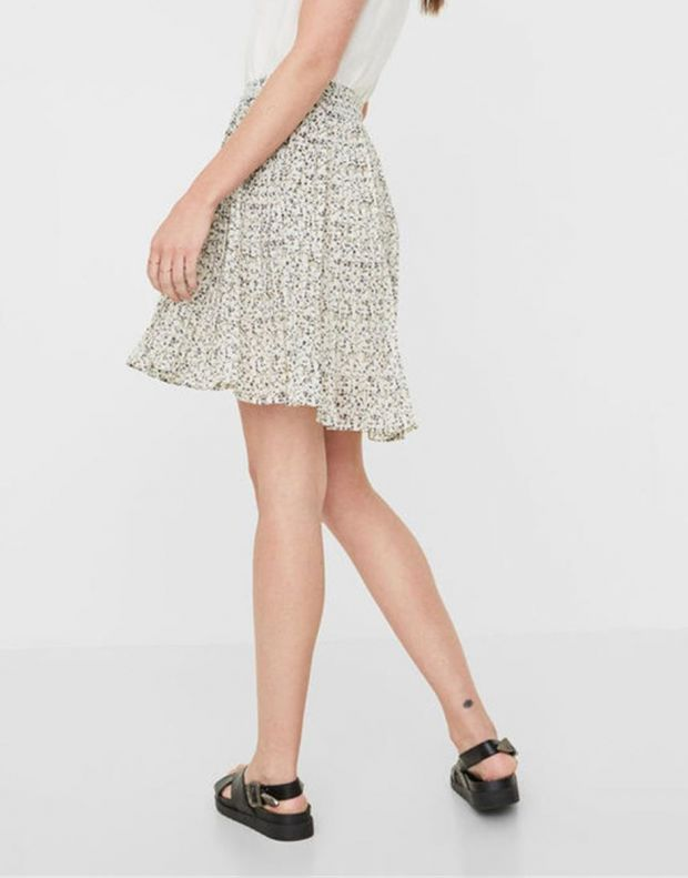 VERO MODA Retro Floral Skirt White - 2