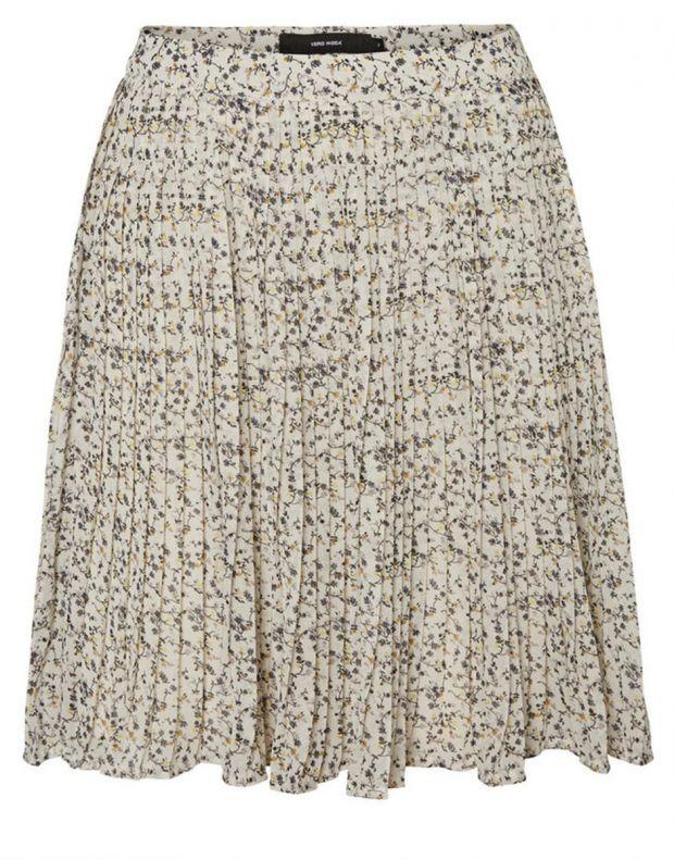 VERO MODA Retro Floral Skirt White - 3