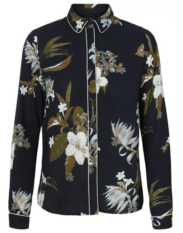 VERO MODA Floral Shirt Blue - 4