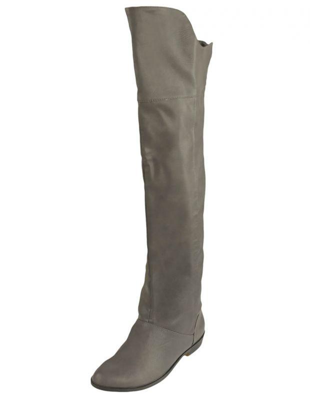 BESHKA High Boots Sage Grey - 1