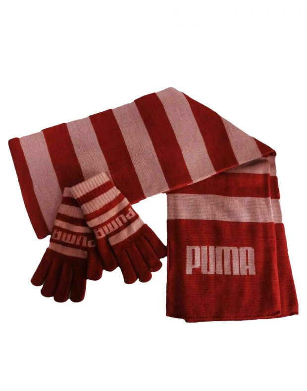 PUMA Since 48 Scarf&Gloves Red 051110-01