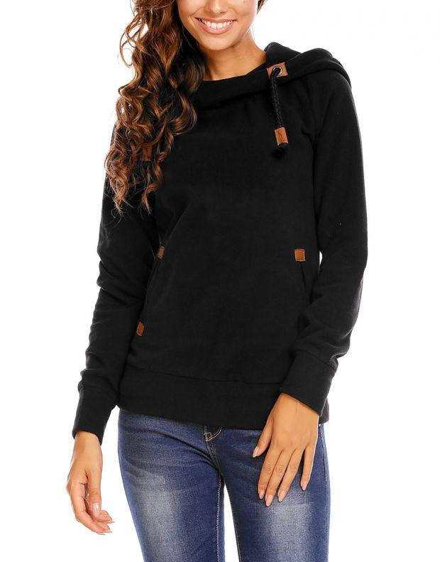 SUBLEVEL Bella Sweatshirt Black - 1