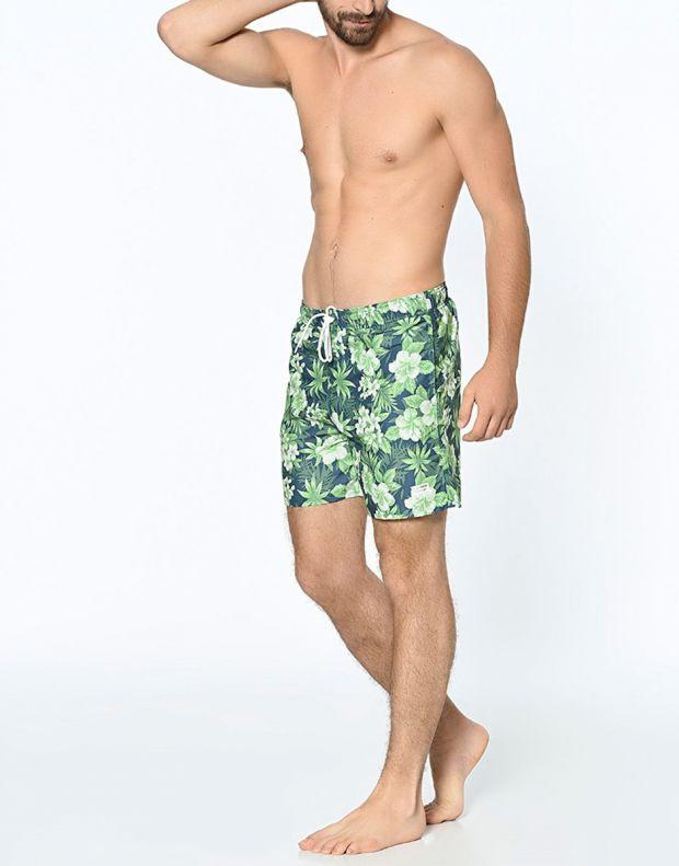 JACK&JONES Tropic Plant Shorts Green - 7