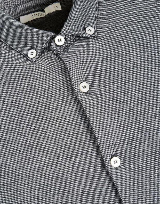 JACK&JONES Casual Cotton Shirt Light Dark Grey - 7