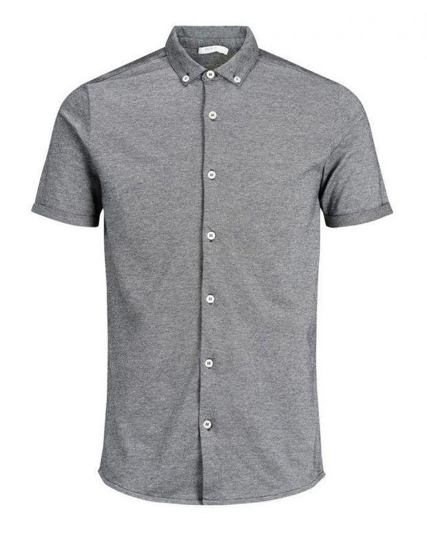 JACK&JONES Casual Cotton Shirt Light Dark Grey - 4