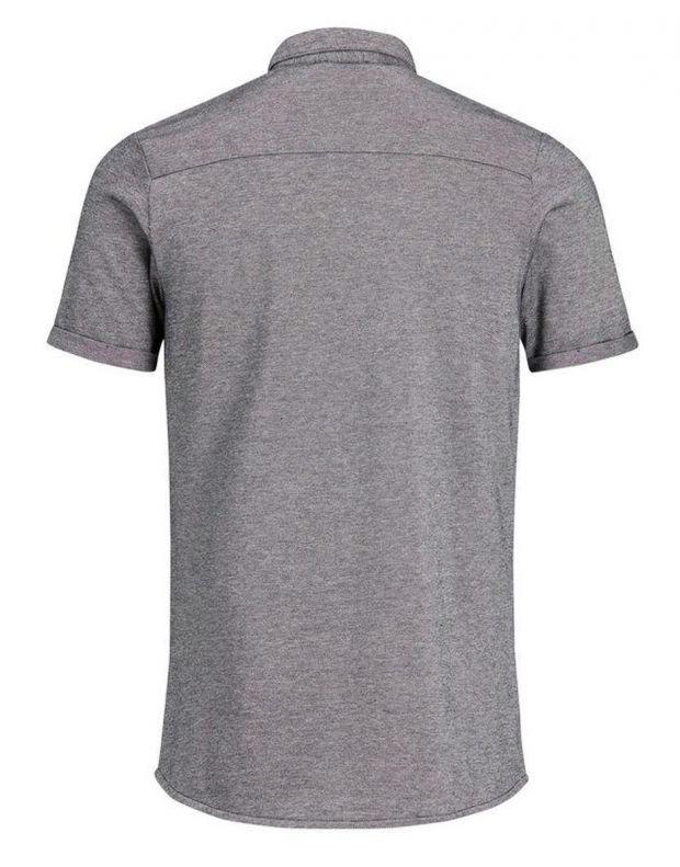 JACK&JONES Casual Cotton Shirt Light Dark Grey - 5