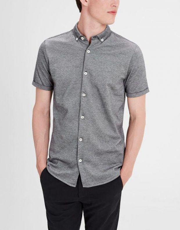 JACK&JONES Casual Cotton Shirt Light Dark Grey - 3