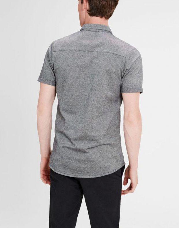 JACK&JONES Casual Cotton Shirt Light Dark Grey - 2